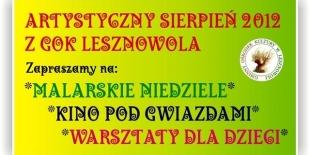 Artystyczny sierpień 2012 z GOK Lesznowola
