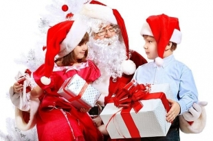 Spotkanie z Mikołajem przed Urzędem w Tarczynie