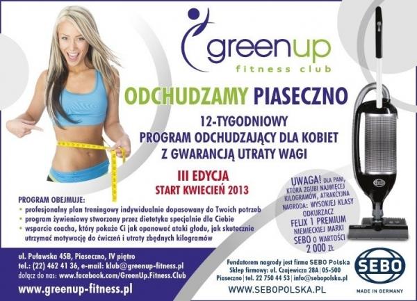 GreenUp Fitness Club - III edycja programu ODCHUDZAMY PIASECZNO