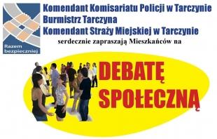 Debata społeczna nt. bezpieczeństwa w Tarczynie