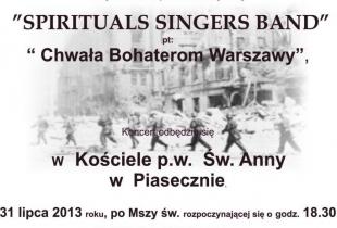"""Koncert """"Chwała Bohaterom Warszawy"""" w Piasecznie"""