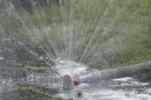 Kurtyna wodna dla ochłody w Parku Zdrojowym