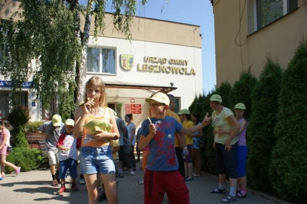 Dzieci ze Stowarzyszenia Dobra Wola odwiedziły Urząd Gminy