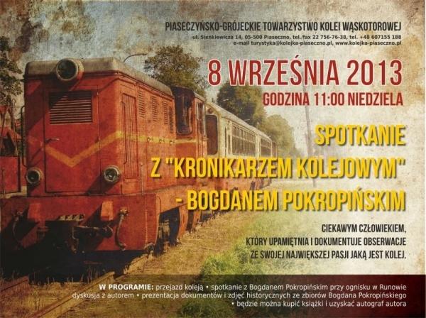 """Spotkanie z """"Kronikarzem Kolejowym"""" - Bogdanem Pokropińskim"""