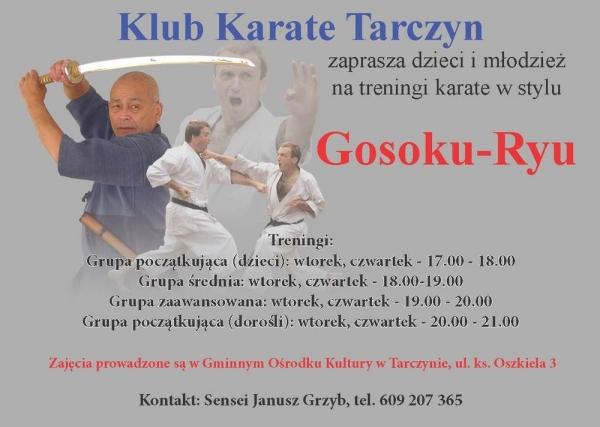 Treningi karate w Tarczynie