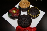 Muffinki czekoladowe z migdałami ... i owocową nutką