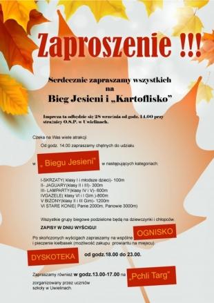 """Bieg Jesieni i """"Kartoflisko"""" w Uwielinach"""