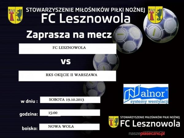 FC Lesznowola vs RKS Okęcie II Warszawa