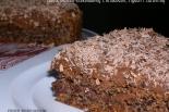 Torcik bezowo-czekoladowy z orzechami, figami i żurawiną