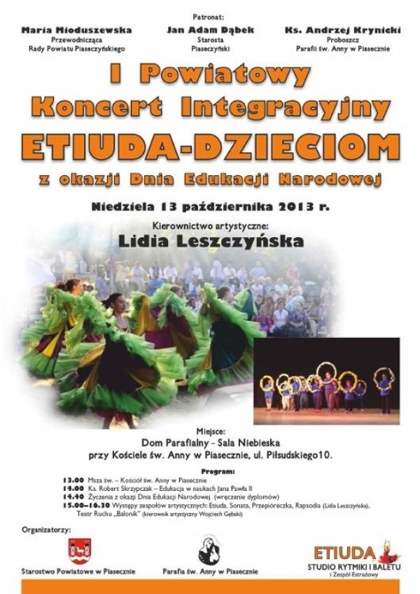 I Powiatowy Koncert Integracyjny Etiuda - Dzieciom
