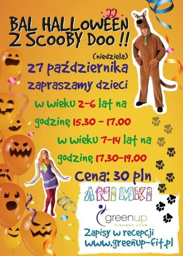 Bal Halloween ze Scooby Doo w GreenUp'ie
