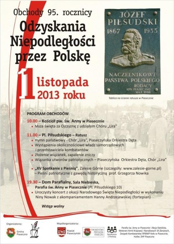 Piaseczno - Koncert Niny Nowak z okazji 95 rocznicy Odzyskania Niepodległości
