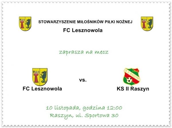 FC Lesznowola vs KS II Raszyn