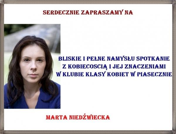Marta Niedźwiecka gościem Klubu Klasy Kobiet z Piaseczna