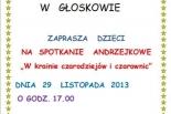 Zabawa Andrzejkowa w Bibliotece w Głoskowie