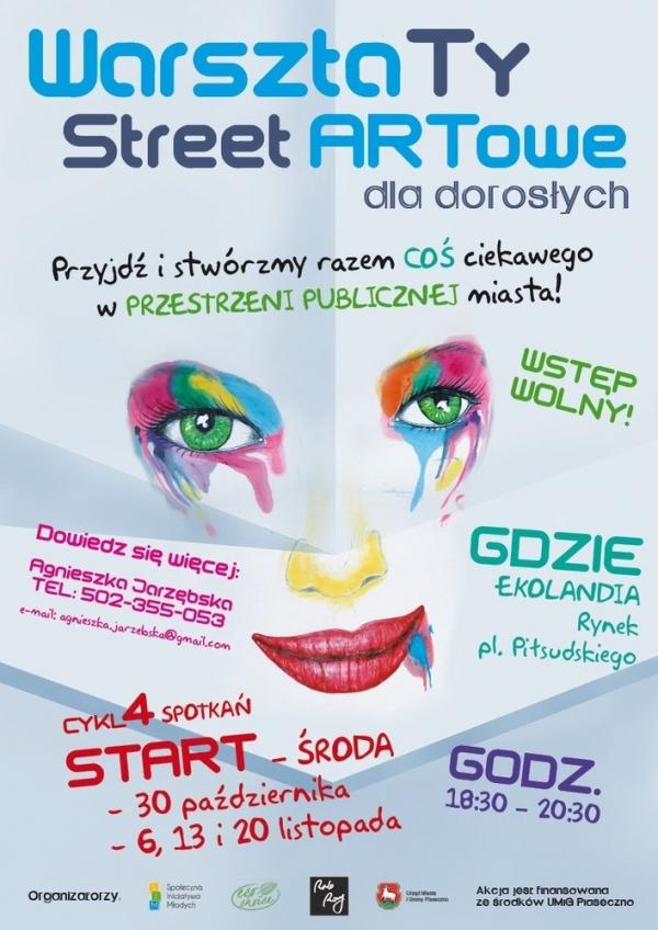 Warsztaty StreetArtowe dla młodzieży i dorosłych w Piasecznie