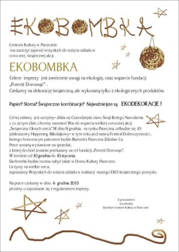 Akcja Ekobombka w CK Piaseczno