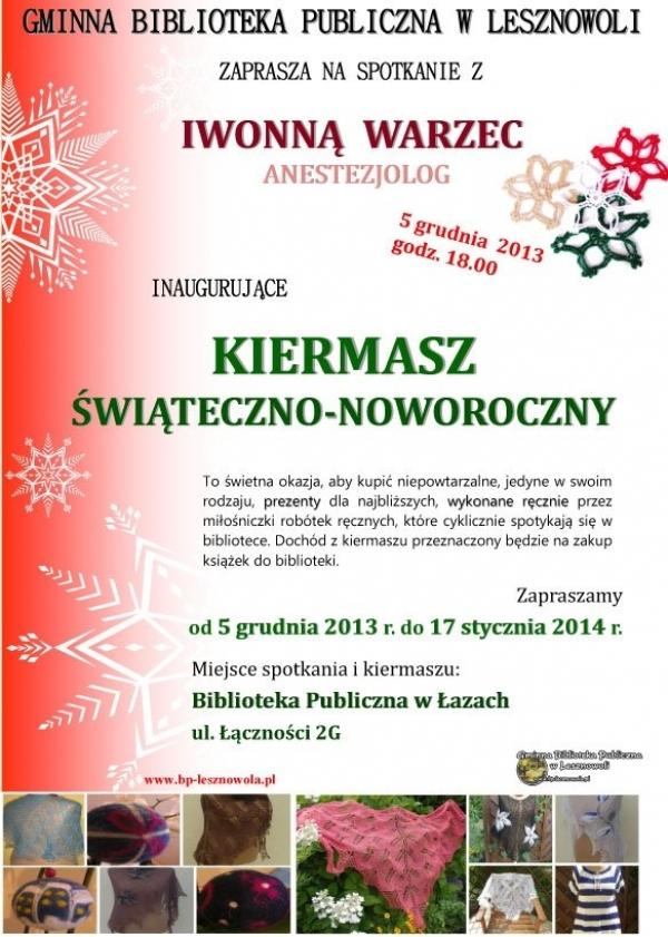 Kiermasz Świąteczno-Noworoczny w Łazach