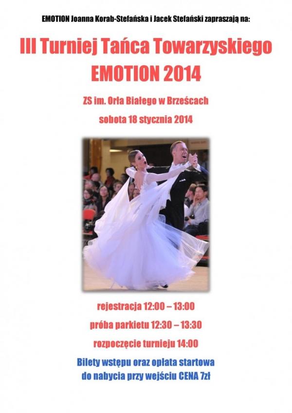 III Turniej Tańca Towarzyskiego Emotion