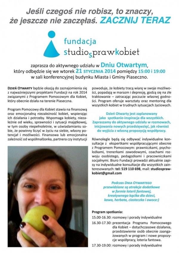 DZIEŃ OTWARTY Fundacji Studio (S)praw Kobiet