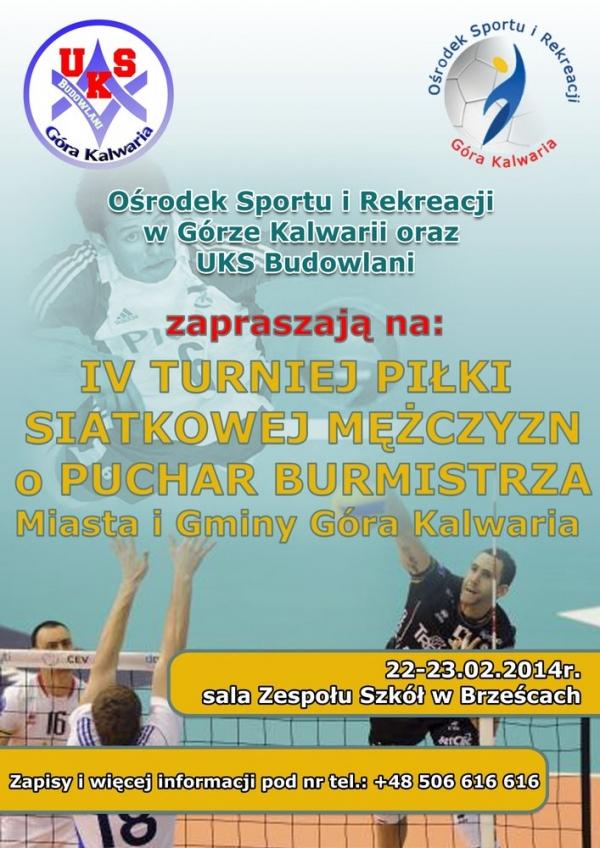 IV Turniej Piłki Siatkowej Mężczyzn w Brześcach