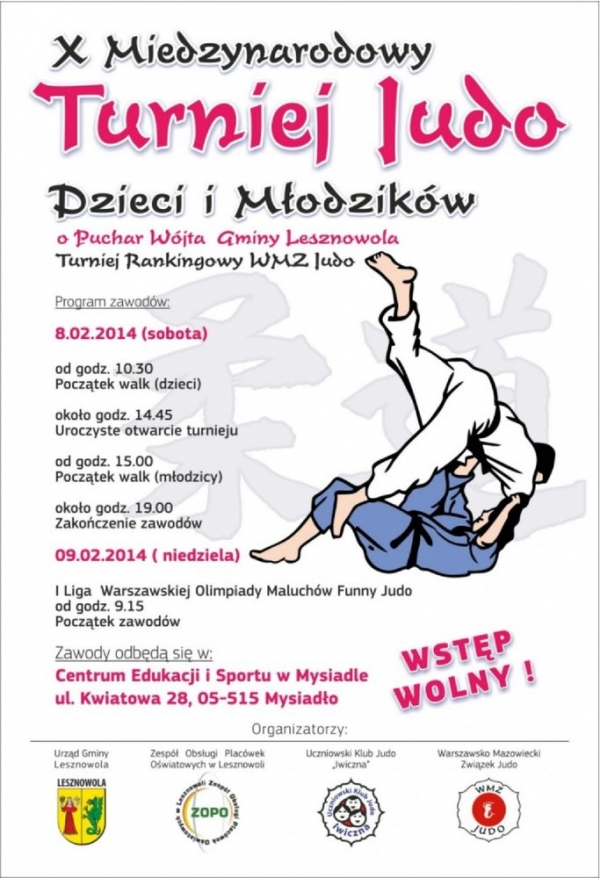 X Międzynarodowy Turniej Judo Dzieci i Młodzików w Mysiadle