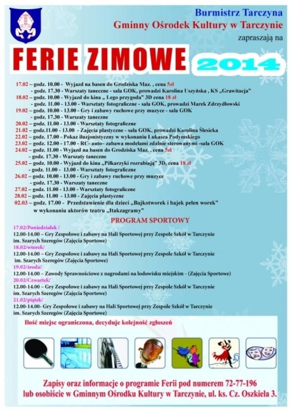 Ferie Zimowe 2014 w Tarczynie