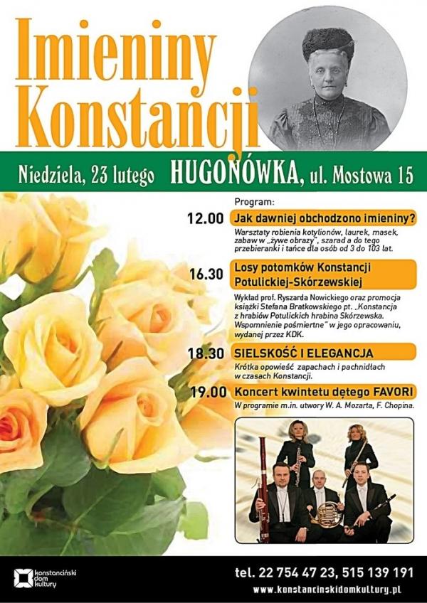 Imieniny Konstancji w Hugonówce