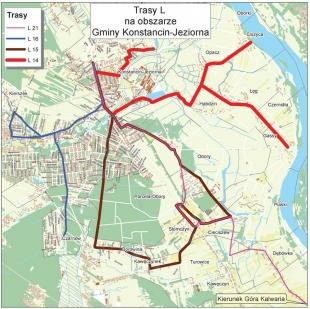Zmiana trasy linii L w gminie Konstancin-Jeziorna