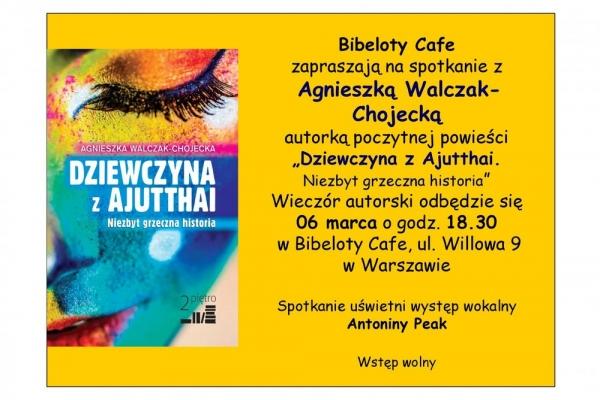 Wieczór autorski Agnieszki Walczak-Chojeckiej w Bibeloty Cafe