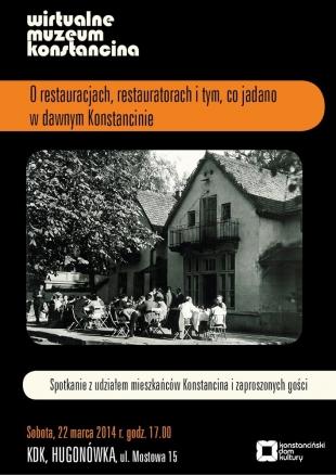 WIRTUALNE MUZEUM KONSTANCINA - O Restauracjach i restauratorach i o tym co jadano w dawnym Konstancinie