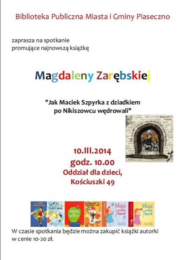 Magdalena Zarębska w Bibliotece w Piasecznie
