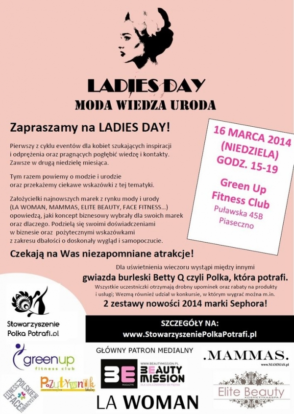 Ladies Day w GreenUP Fitness Club