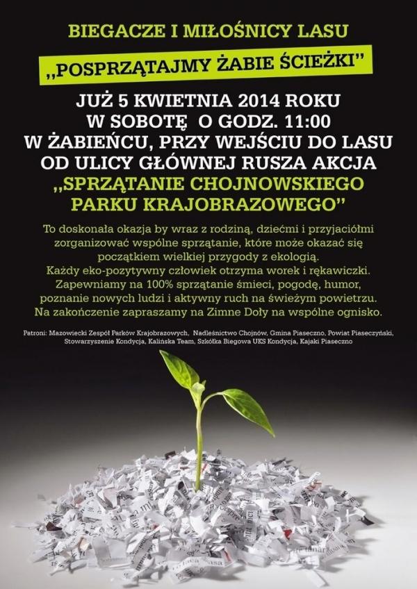 Posprzątajmy Żabie Ścieżki Chojnowskiego Parku Krajobrazowego