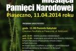 Obchody Miesiąca Pamięci Narodowej w Piasecznie