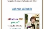 Spotkanie z pisarką Joanną Jakubik w Złotokłosie