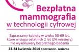 """""""Piersi w SPA"""" - bezpłatna mammografia, bo Polka Potrafi zadbać o zdrowie!"""