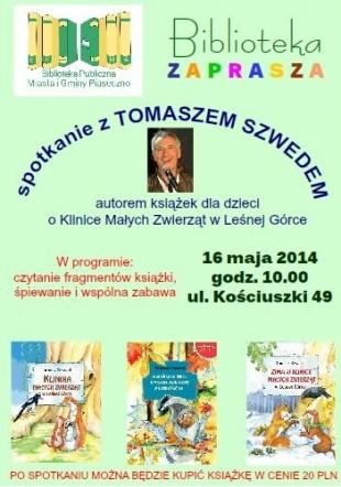 Tomasz Szwed w Bibliotece w Piasecznie