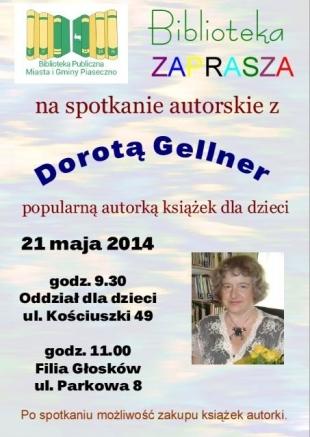 Spotkanie z Dorotą Gellner w Bibliotece w Piasecznie