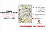 Zamknięcie ul. Wojska Polskiego w Piasecznie - budowa mostów