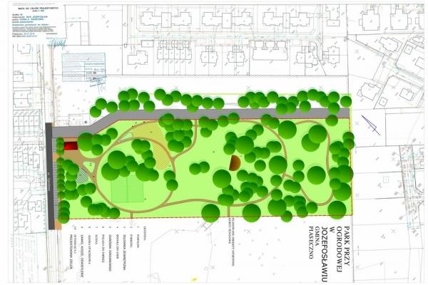 Park w Józefosławiu - wstępna koncepcja