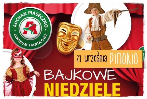 Bajkowe niedziele w CH Auchan Piaseczno - PINOKIO