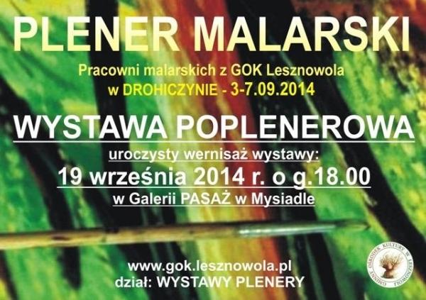 Poplenerowa Wystawa 2014 pt. DROHICZYN - PERŁA PODLASIA