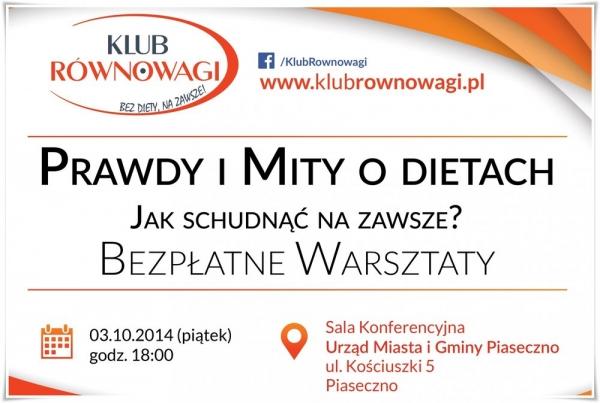 PRAWDY I MITY O DIETACH - bezpłatne warsztaty w Piasecznie