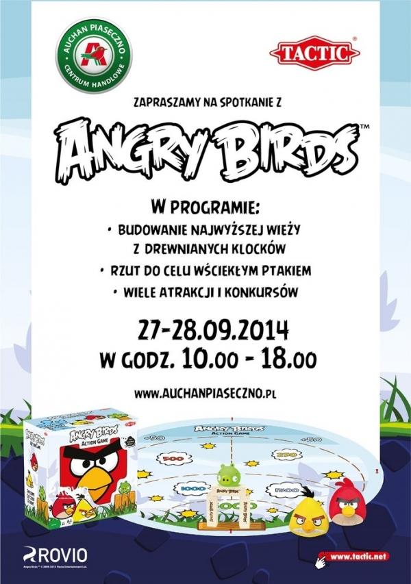 Szalony weekend z Angry Birds w CH Auchan Piaseczno