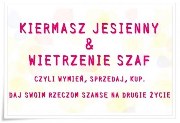 Kiermasz jesienny i wietrzenie szaf w Piasecznie