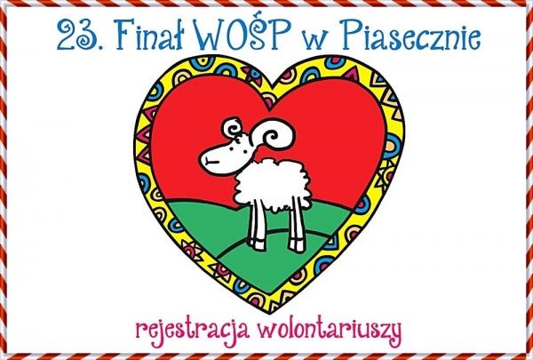 23. Finał WOŚP w Piasecznie - rejestracja wolontariuszy