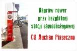 Napraw rower przy bezpłatnej stacji samoobsługowej CH Auchan Piaseczno