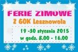 FERIE ZIMOWE z GOK Lesznowola