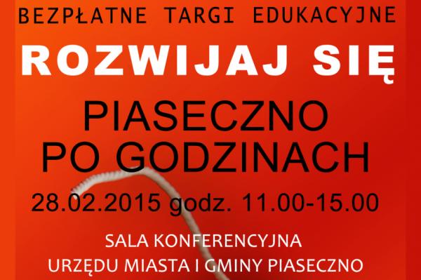 """""""Piaseczno po godzinach"""" - Targi edukacyjne"""